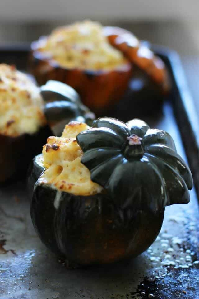 Top 50 Halloween Recipes... White cheddar stuffed acorn squash