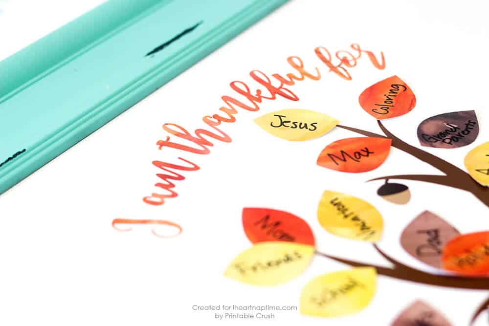 photo relating to Thankful Tree Printable called Free of charge Thanksgiving Printable Grateful Tree - I Middle Nap Period