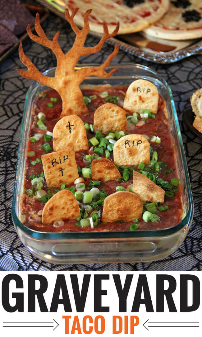 Top 50 Halloween Recipes... Graveyard taco dip