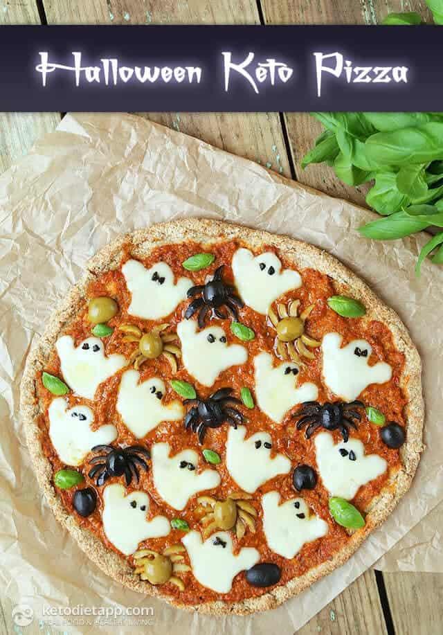 Top 50 Halloween Recipes... Halloween Keto Pizza