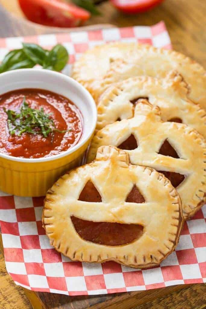 Top 50 Halloween Recipes... Pepperoni pizza pockets