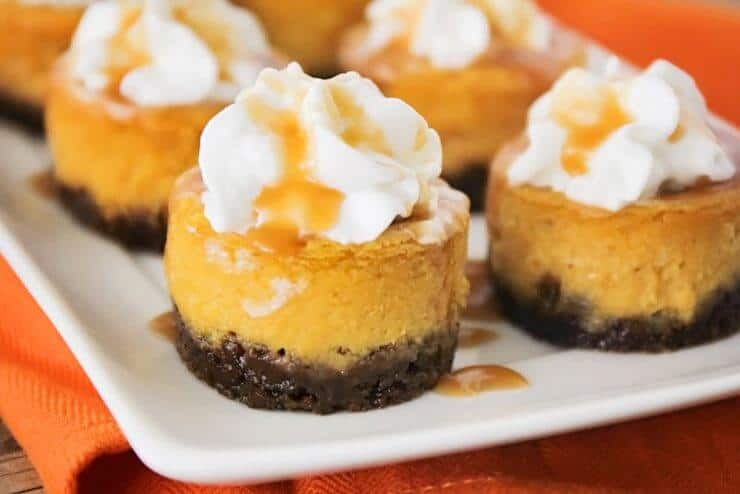 Pumpkin Cheesecake... ready to serve!