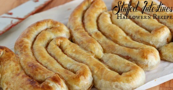 Top 50 Halloween Recipes... Puff pastry intestines