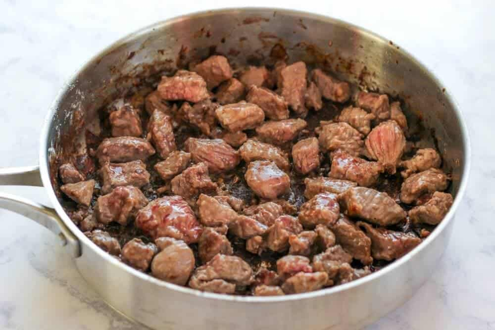 Slow Cooker Beef Bourguignon ...browning the stew meat