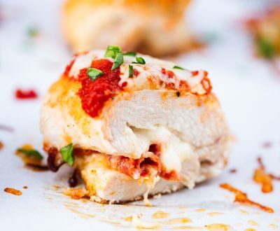 Pizza Chicken Roll Ups recipe ...a tender chicken breast stuffed with mozzarella cheese, pepperoni and marinara sauce. Easy, healthy and delicious! A dish the whole family will love.