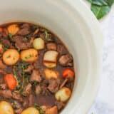 beef bourguignon in slow cooker