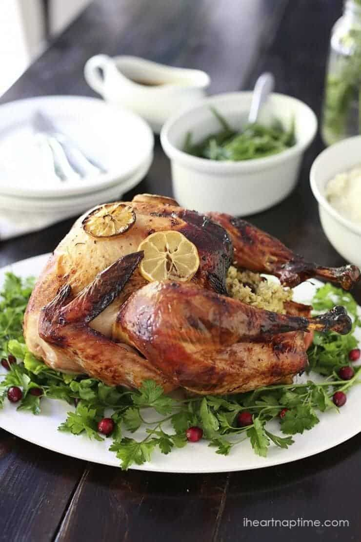 thanksgiving-turkeyTop 50 Christmas Dinner Recipes... an incredible collection of all sorts of main dishes, side dishes, and desserts! Plenty of fresh, new recipes to add a twist to your traditional menu!