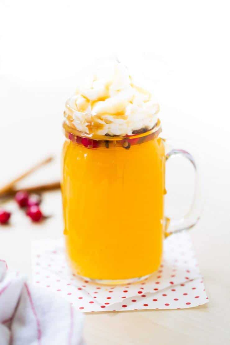Slow Cooker Holiday Wassail... the perfect hot drink to serve at any holiday party.