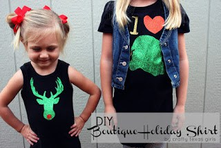DIY Glitter Christmas Shirts
