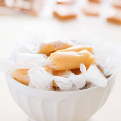 Homemade Microwave Caramels... made in 6 minutes with only 5 ingredients! These will be the easiest candy you will make this holidays!