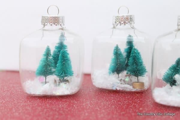 Mini Snow Globe Ornaments