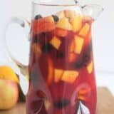 pitcher of sangria with fresh fruit