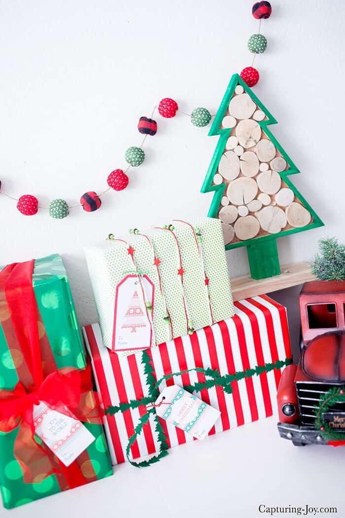 Six christmas gift tags free printables i heart nap time six christmas gift tags download these adorable free holiday tags to dress negle Images