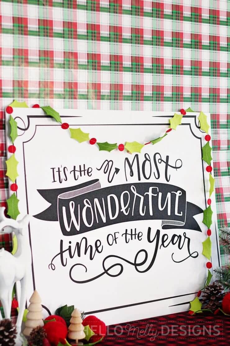 Free Hand Lettered Christmas Carol Print... a beautiful and free holiday download, certain to brighten up everyone's spirits as Christmas approaches!