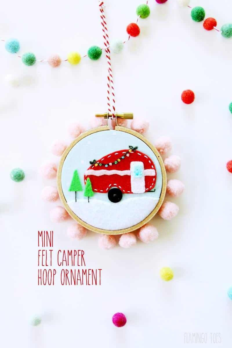 Camper Christmas Ornament - I Heart Nap Time