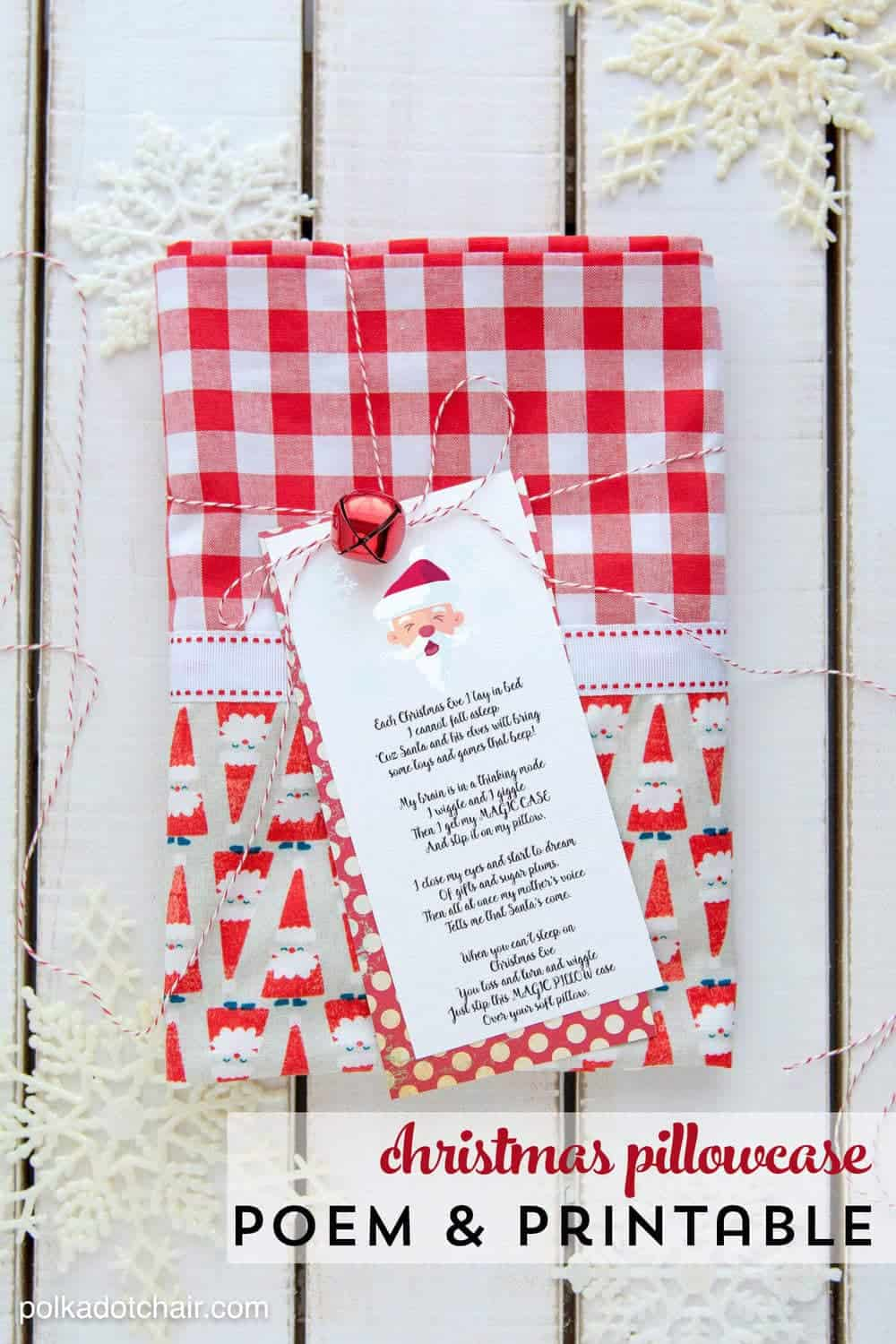 Christmas Pillowcase Poem + FREE PRINTABLE - I Heart Nap Time