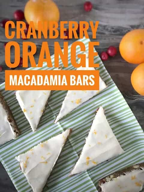 Cranberry Orange Macadamia Bars