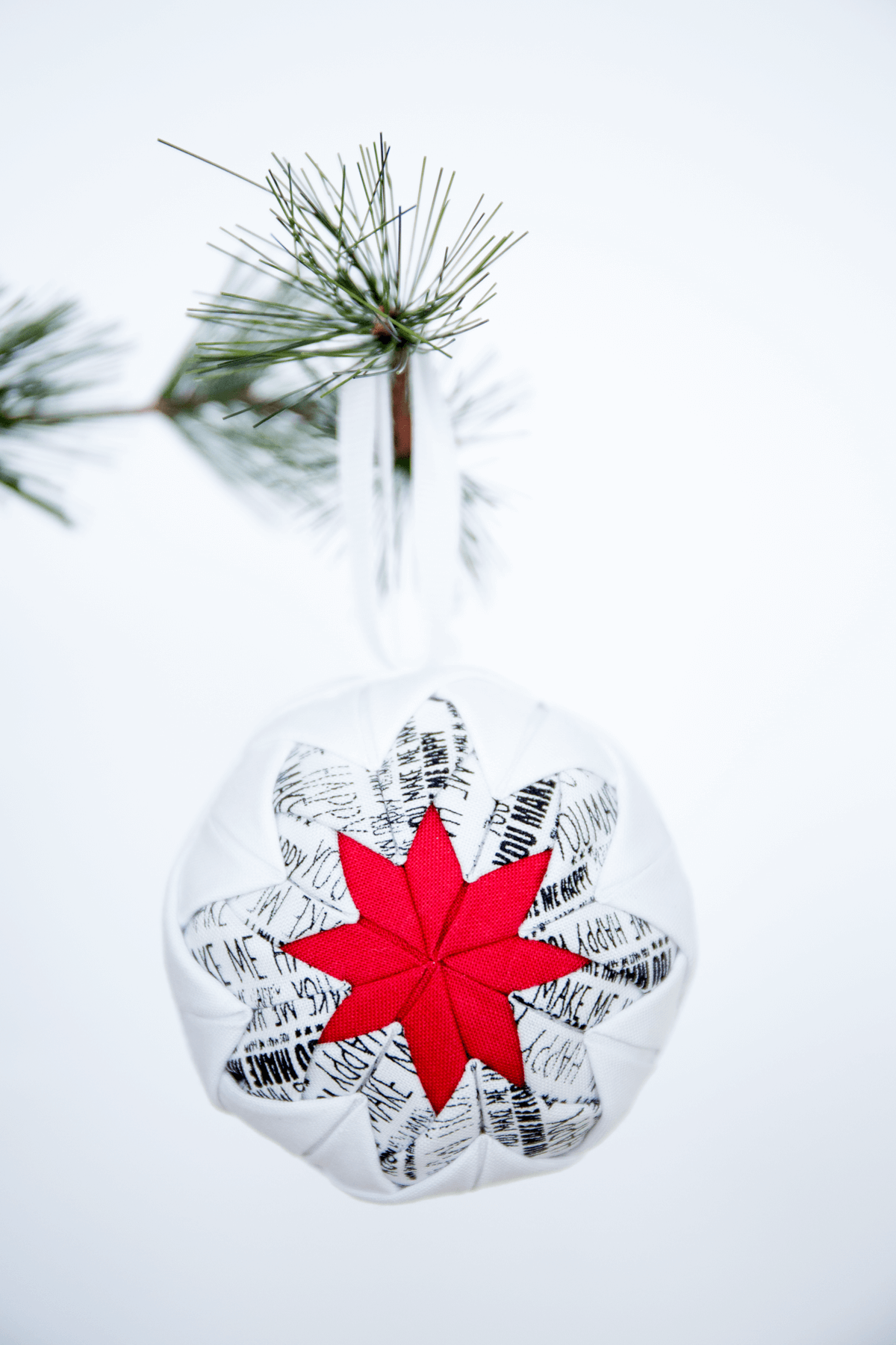 No-Sew Quilted Christmas Ornament - I Heart Nap Time