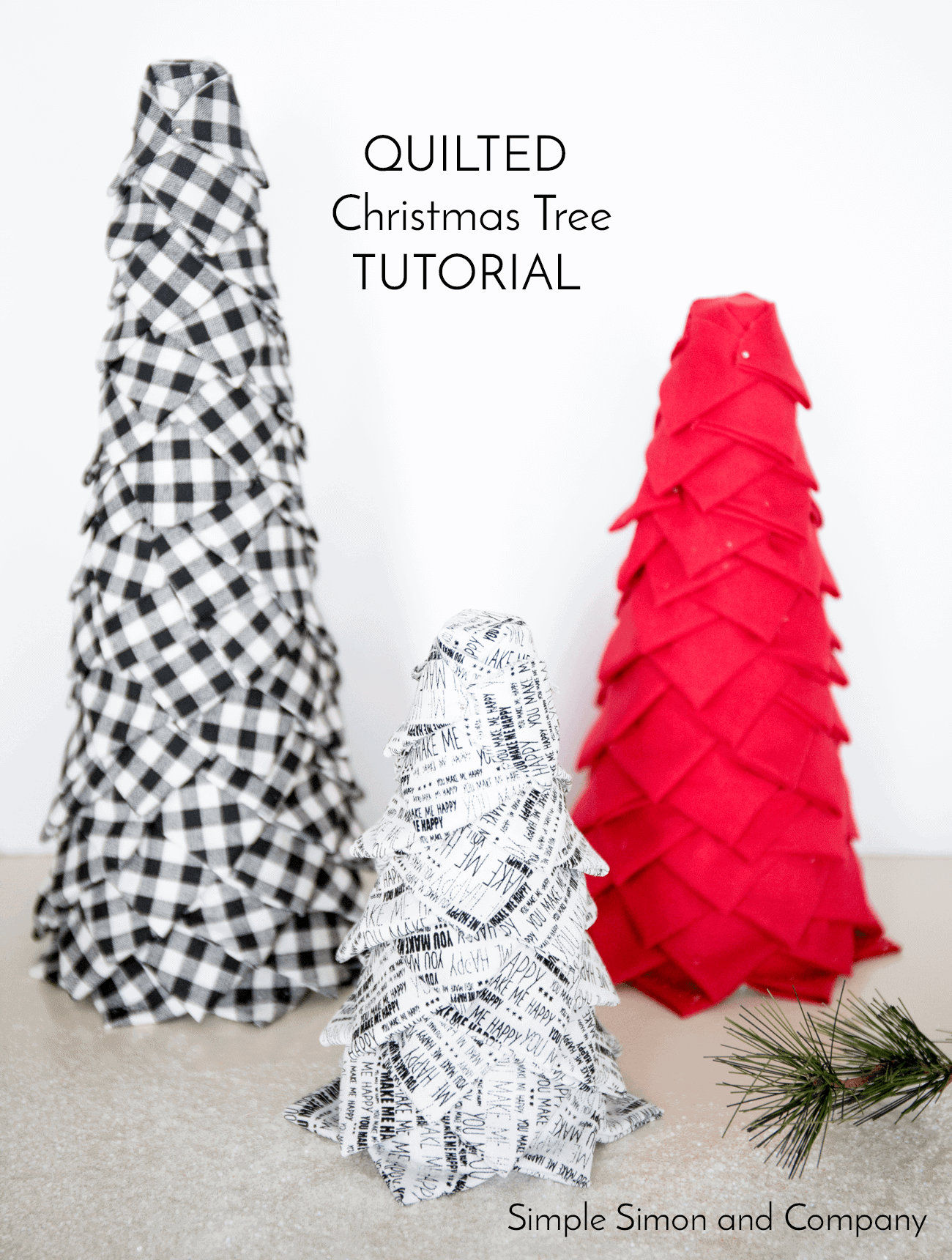 No-Sew Quilted Christmas Trees