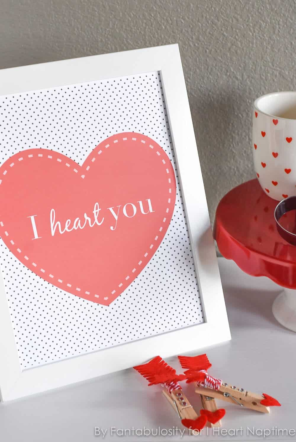 """I Heart You,"" Valentine's Day Free Printable - Print this Valentine's Day free printable, and frame it for that special little place you love in your home."