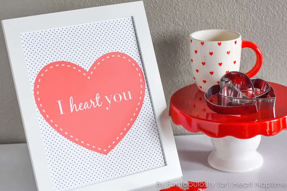 """""""I Heart You,"""" Valentine's Day Free Printable - Print this Valentine's Day free printable, and frame it for that special little place you love in your home."""