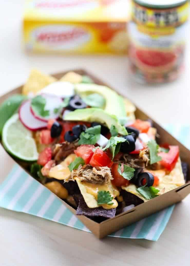 Nacho Bar free printables + Famous Queso Dip and all the fix-in's! Perfect for family night, game day, and any get-together!