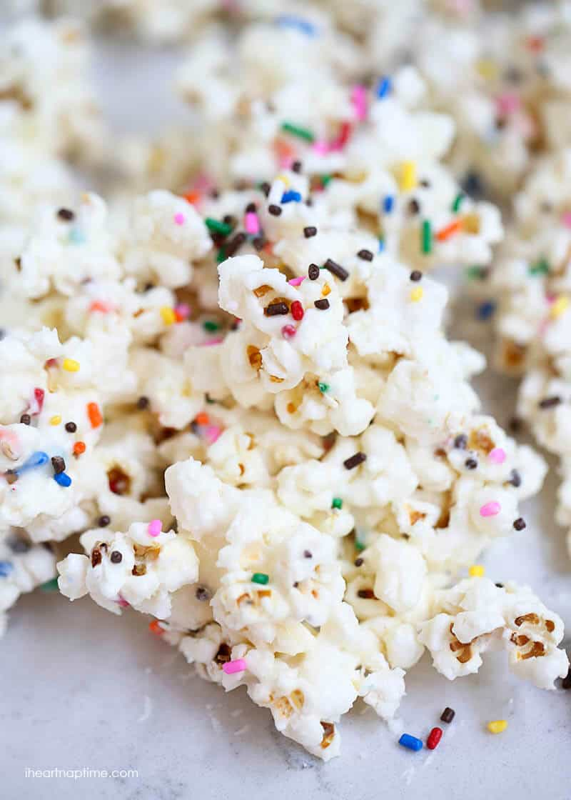 Cake batter popcorn + 50 Rainbow Desserts - the perfect way to celebrate St. Patrick's Day and welcome spring!