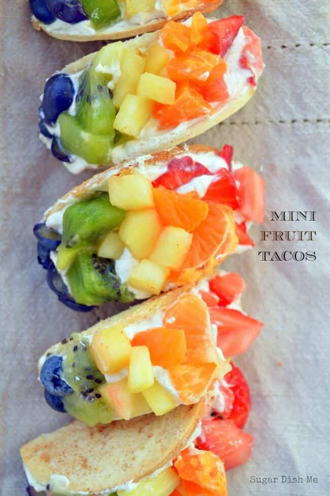 Rainbow fruit tacos + Top 50 Rainbow Desserts - the perfect way to celebrate St. Patrick's Day and welcome spring!