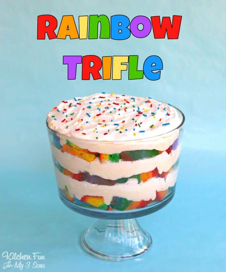Rainbow trifle + Top 50 Rainbow Desserts - the perfect way to celebrate St. Patrick's Day and welcome spring!