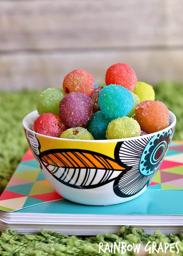 Rainbow grapes + Top 50 Rainbow Desserts - the perfect way to celebrate St. Patrick's Day and welcome spring!
