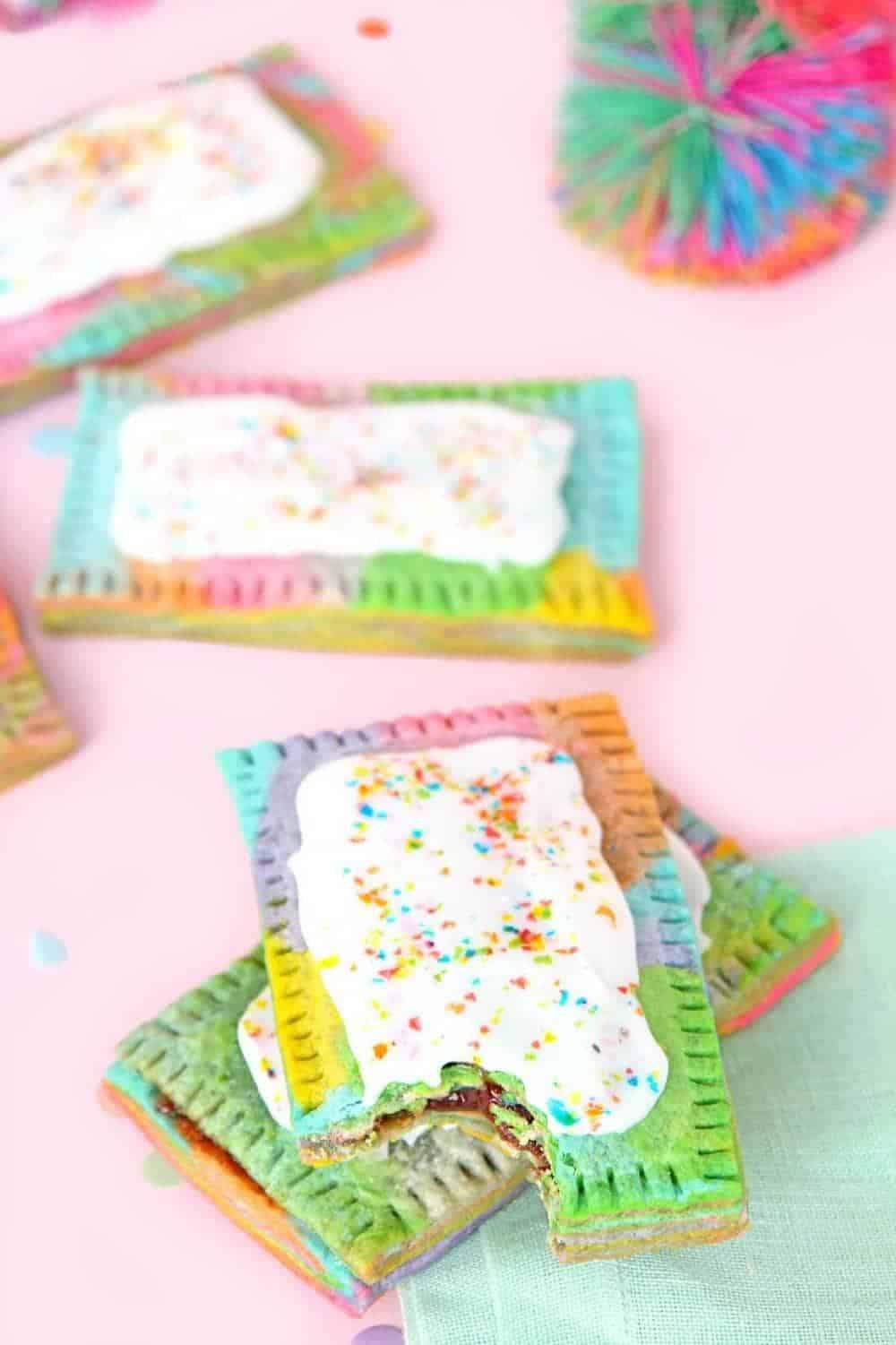 Rainbow poptarts + Top 50 Rainbow Desserts - the perfect way to celebrate St. Patrick's Day and welcome spring!