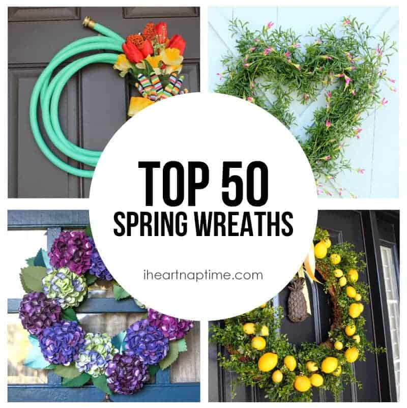 Exceptional Spring Door Wreath Ideas Part - 5: Top 50 DIY Spring Wreaths On Iheartnaptime.com -so Many Cute Ideas!