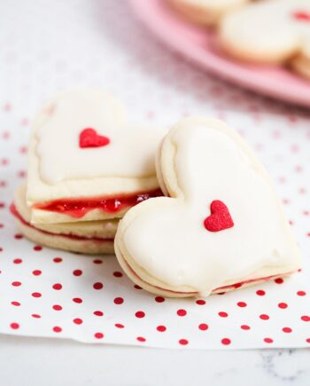 heart shaped empire biscuits