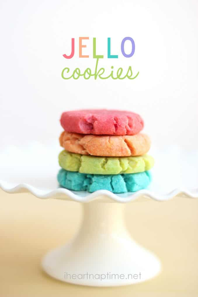 Jello cookies + 50 Rainbow Desserts - the perfect way to celebrate St. Patrick's Day and welcome spring!