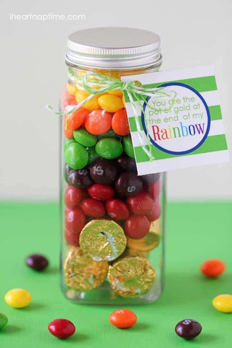 Skittles jar + 50 Rainbow Desserts - the perfect way to celebrate St. Patrick's Day and welcome spring!