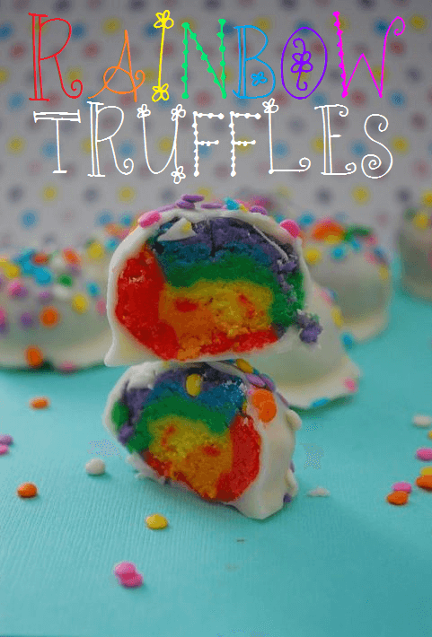 Rainbow truffles + Top 50 Rainbow Desserts - the perfect way to celebrate St. Patrick's Day and welcome spring!