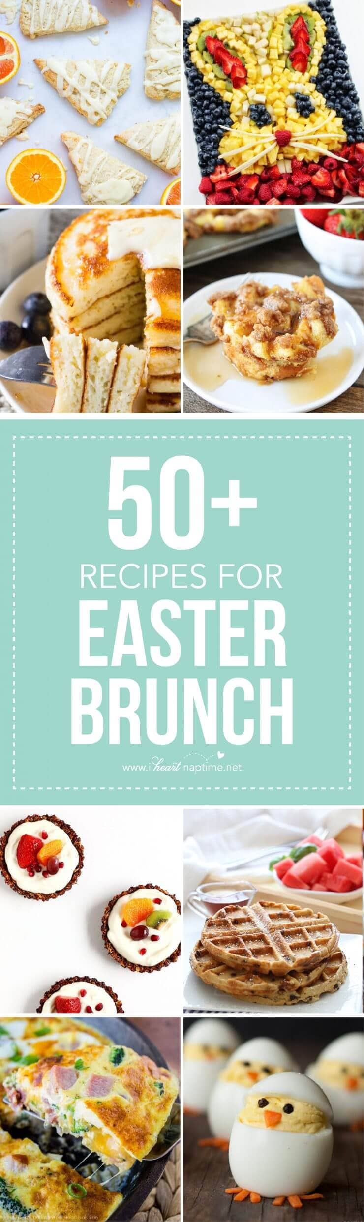 Top 50 Easter Brunch Recipes that will please every guest on your list...delicious recipes for the Easter holiday, the perfect occasion to enjoy your family and welcome spring with a delicious brunch.