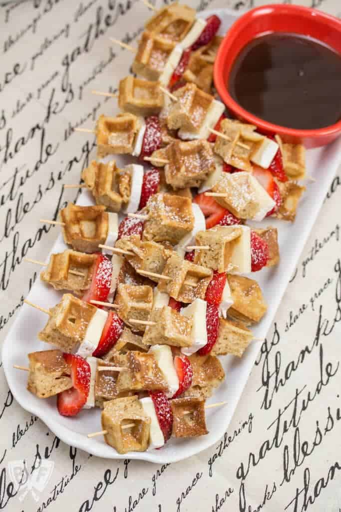 brie waffle bites + Top 50 Easter Brunch Recipes that will please every guest on your list!