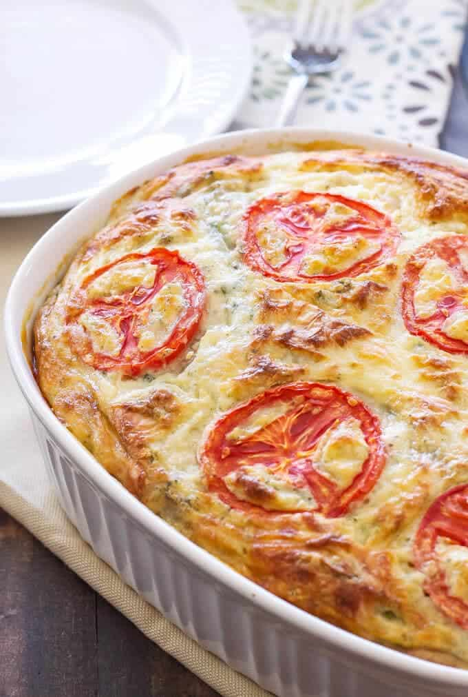 crustless vegetable quiche + Top 50 Easter Brunch Recipes that will please every guest on your list!