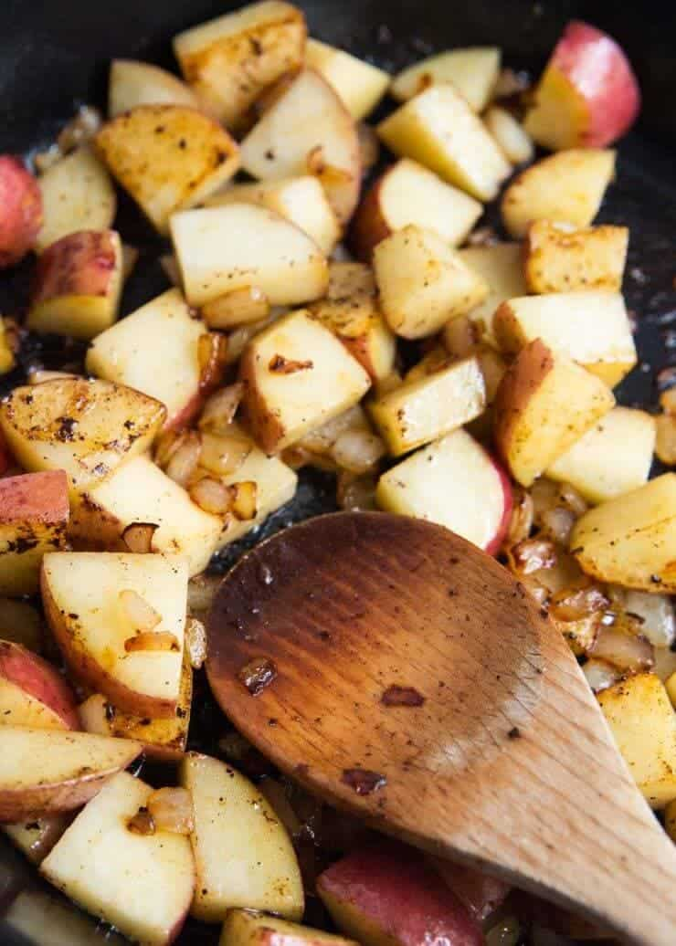 One Pot Dijon Chicken and Potatoes Recipe ...the caramelized onions, roasted potatoes, juicy chicken, and dijon glaze give this dish so much flavor!