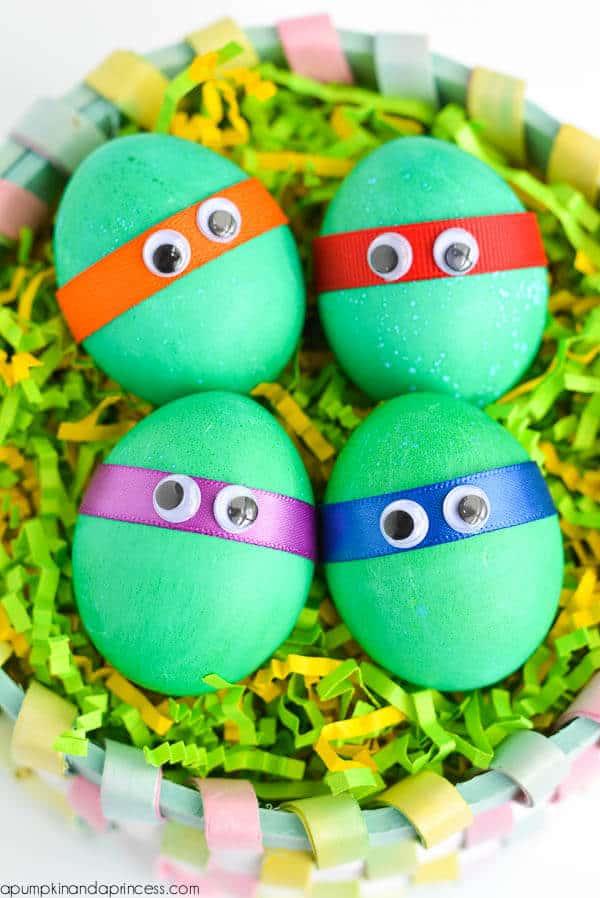 Dyed Ninja Turtles Easter Eggs 25 Crafts For Kids