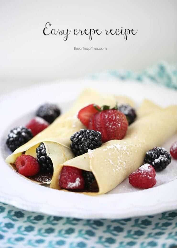 easy crepe recipe IHN + Top 50 Easter Brunch Recipes that will please every guest on your list!