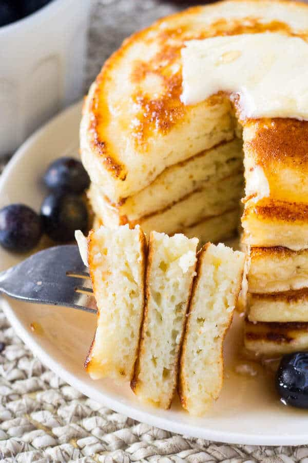 fluffy ricotta pancakes just so tasty + Top 50 Easter Brunch Recipes that will please every guest on your list!