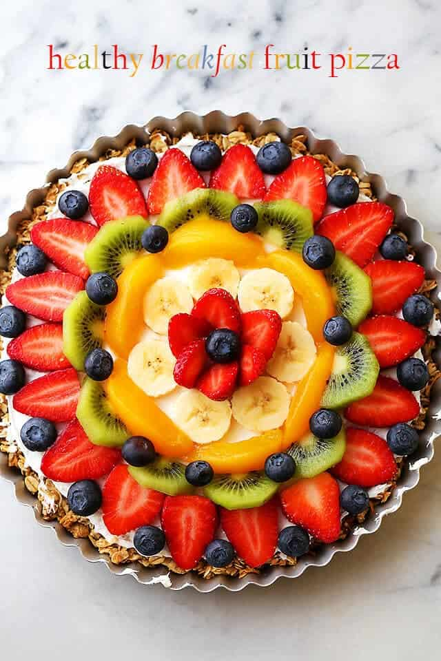 healthy breakfast fruit pizza diethood + Top 50 Easter Brunch Recipes that will please every guest on your list!