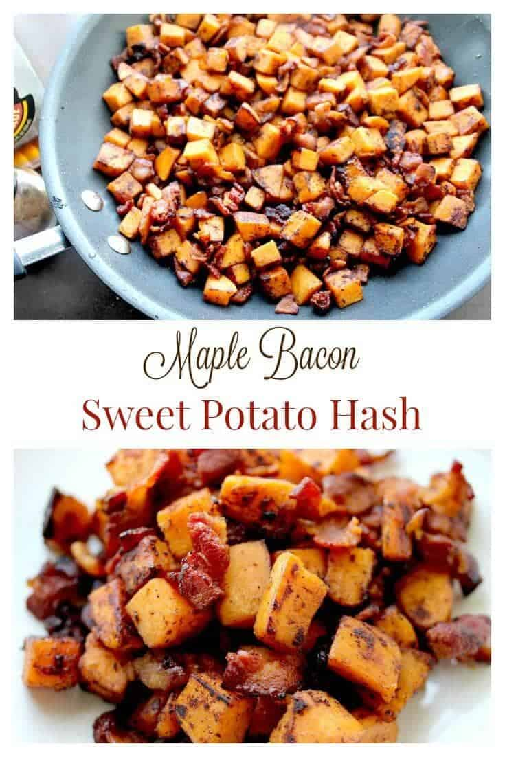 maple bacon sweet potato hash + Top 50 Easter Brunch Recipes that will please every guest on your list!