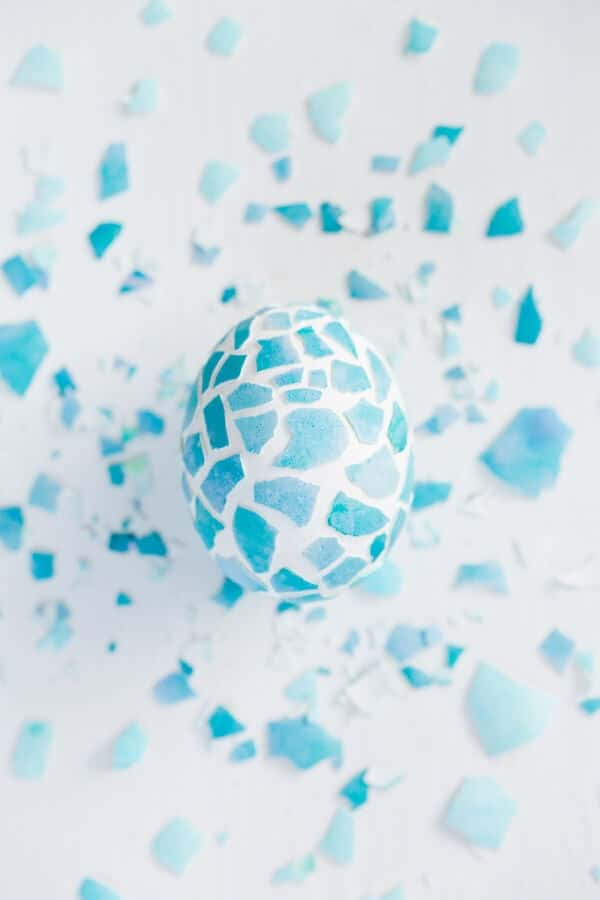 Mosaic Easter Eggs + 25 Easter Crafts for Kids - Fun-filled Easter activities for you and your child to do together!