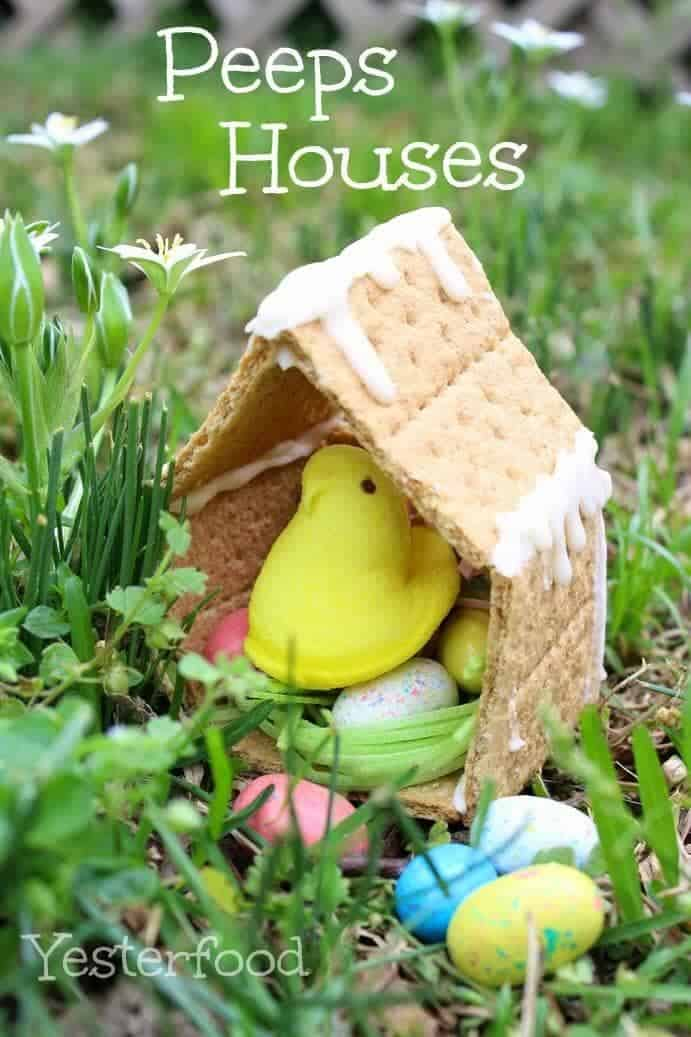 Peeps Houses + 25 Easter Crafts for Kids - Fun-filled Easter activities for you and your child to do together!