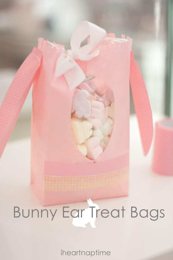 bunny ear treat bags + 25 Easter Crafts for Kids - Fun-filled Easter activities for you and your child to do together!