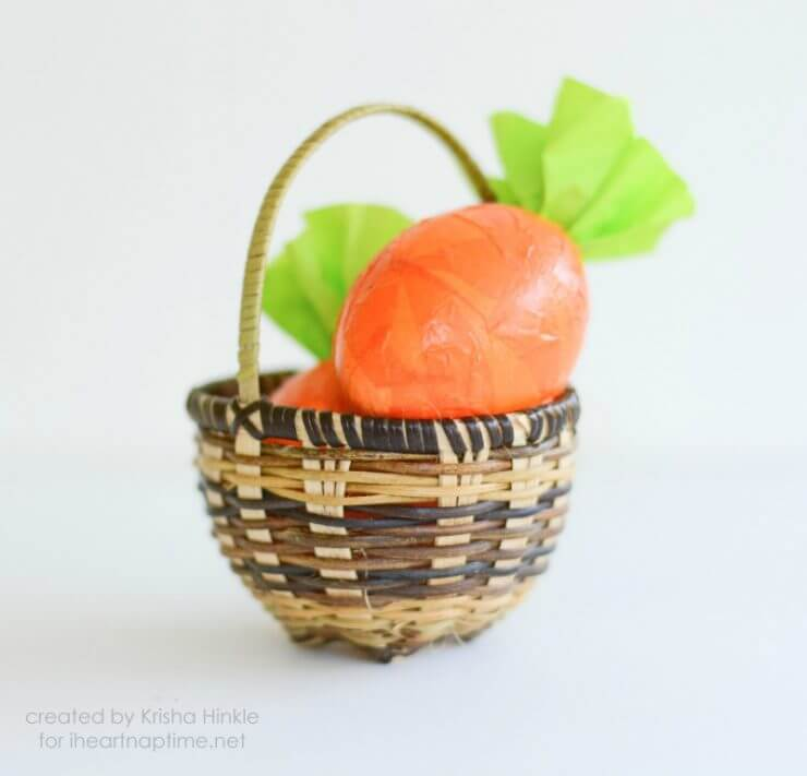 carrot cascarone + 25 Easter Crafts for Kids - Fun-filled Easter activities for you and your child to do together!
