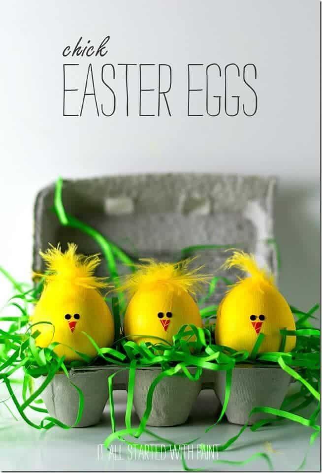 Easter Egg Decorating Ideas Chick
